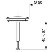 Clapet rentrant 50 mm pour baignoire baignoire - Clapet pour vidage de baignoire a cable ...