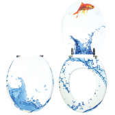 AQUARIUM, abattants wc trendy line bois