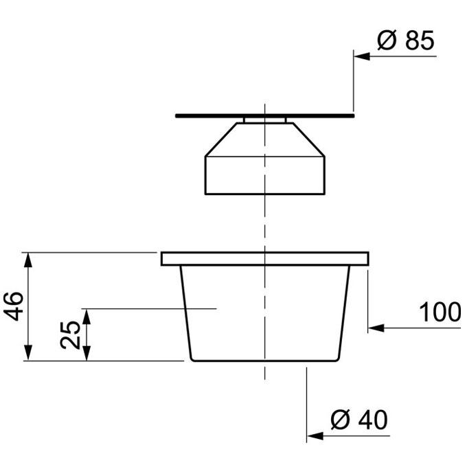 bonde de sol corps gris grille inox 100 x 100 mm 40 mm coller bondes de sol wirquin. Black Bedroom Furniture Sets. Home Design Ideas