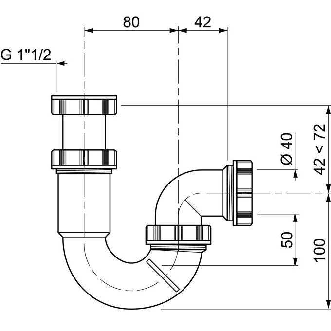 Siphon D Evier P Sortie Horizontale Reglable En Hauteur Wirquin