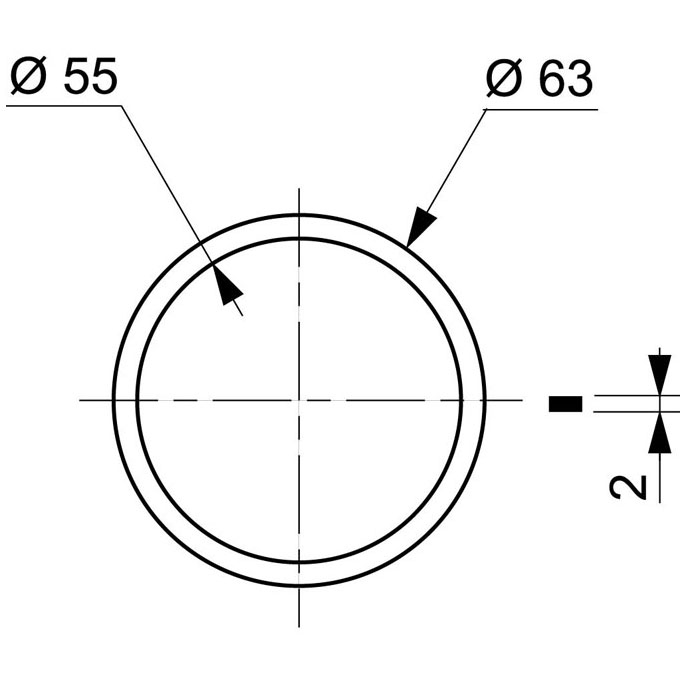 Joint de culot dévier pour siphon ø32 et ø40 mm - Eviers - Joints ...