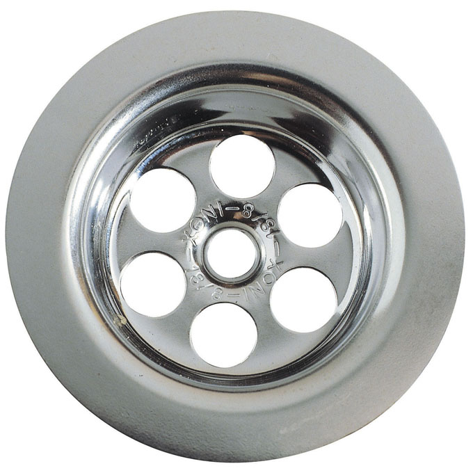 Grille inox ronde creuse 70 mm pour vier inox eviers for Lavabo cuisine inox