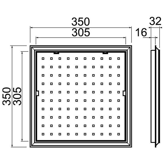 trappe de visite en pvc blanc pour baignoire trappe de. Black Bedroom Furniture Sets. Home Design Ideas
