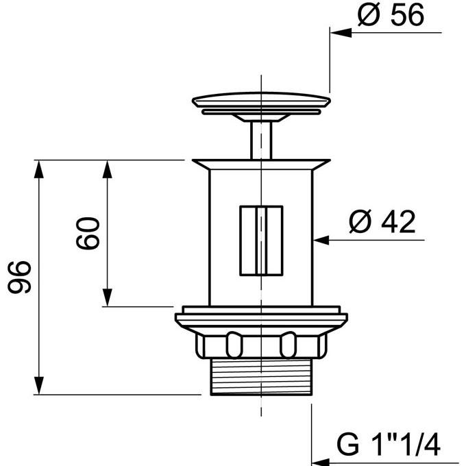 Bonde de lavabo pour lavabo porcher fermeture tirette for Bonde lavabo salle de bain