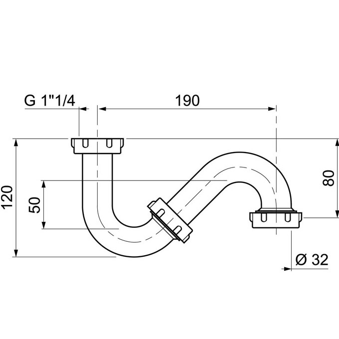 Siphon pour lavabo porcher sortie verticale siphon pour for Siphon salle de bain