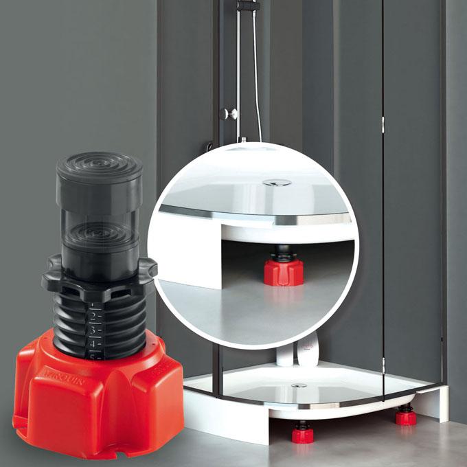 niv 39 eau pieds r glables pour receveur de douche lot de 4 accessoires douche wirquin. Black Bedroom Furniture Sets. Home Design Ideas