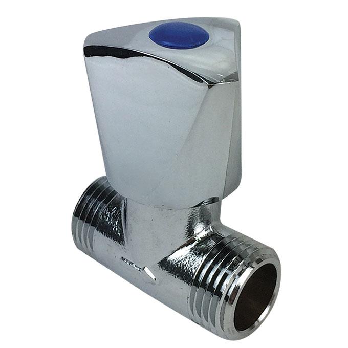 Robinet d 39 arr t querre douche accessoires wirquin for Robinet haut salle de bain