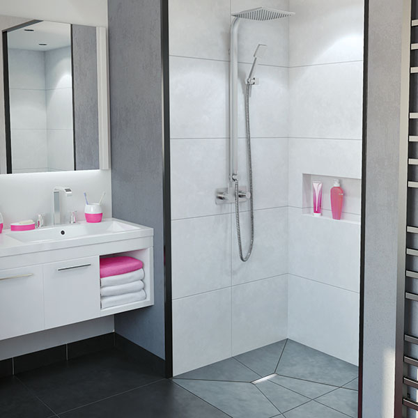 so low caniveau de douche l 39 italienne avec guide pentes int gr s douche l 39 italienne. Black Bedroom Furniture Sets. Home Design Ideas