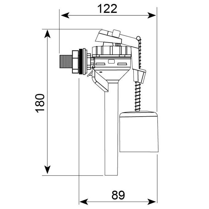 topy robinet flotteur alimentation lat rale servo valve. Black Bedroom Furniture Sets. Home Design Ideas