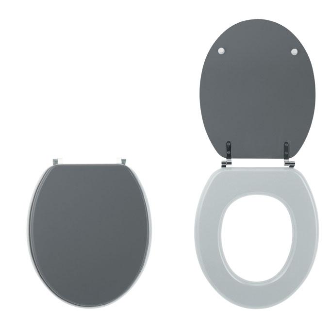 bi color abattants wc colors line gris anthracite mat clair mat abattants bois unis bi. Black Bedroom Furniture Sets. Home Design Ideas