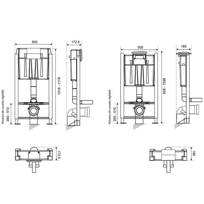 hauteur standard wc suspendu simple jacob delafon bati support wc grohe cuvette patio abattant. Black Bedroom Furniture Sets. Home Design Ideas