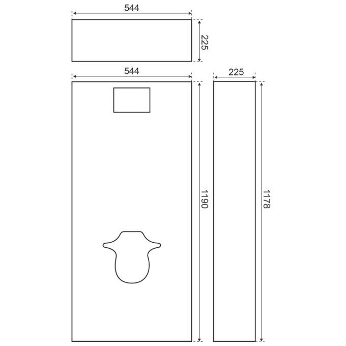 image o cover habillage hydrofug pour wc suspendu wc. Black Bedroom Furniture Sets. Home Design Ideas