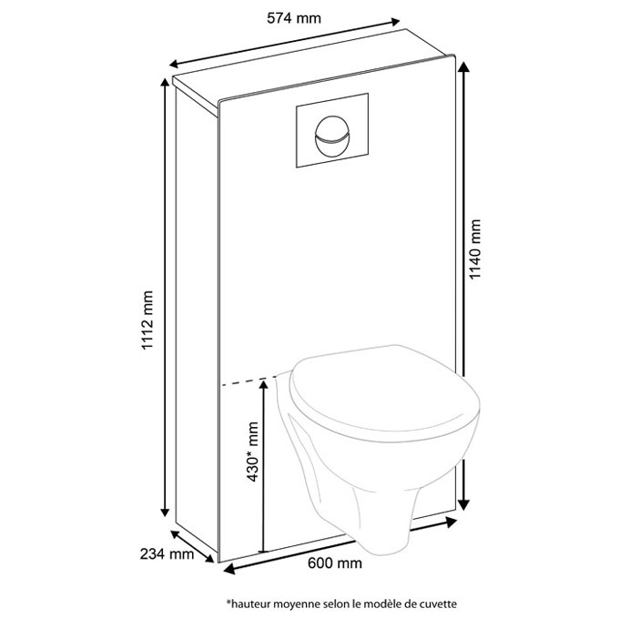 magispace habillage image o magispace pour wc suspendu wc suspendus habillage wirquin. Black Bedroom Furniture Sets. Home Design Ideas