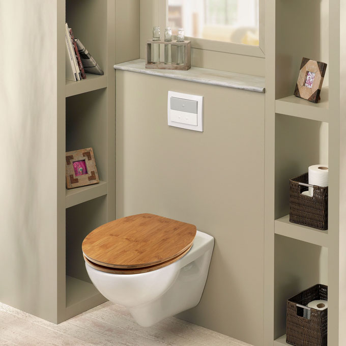 Bambou abattant wc casual line bambou abattants - Abattant wc bois ...