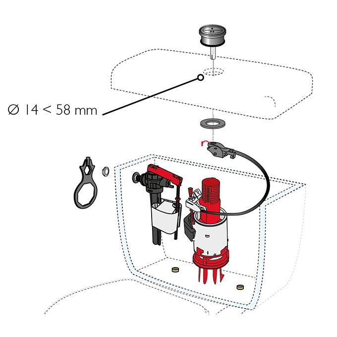 reglage mecanisme chasse d eau maison design. Black Bedroom Furniture Sets. Home Design Ideas
