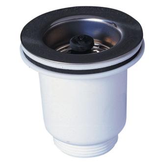 bonde panier pour vier 1 bac 60 mm gr s ou synth se sans trop plein eviers gres synthese. Black Bedroom Furniture Sets. Home Design Ideas