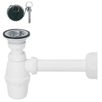 Ensemble fermeture bouchon avec tube de sortie pour lavabo for Bouchon de lavabo salle de bain