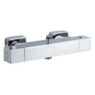Thermostatique carr mitigeur en laiton douche for Salle de bain 3m carre