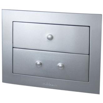 egal plaque de commande double chasse pour wc suspendu wc suspendus plaques de commande. Black Bedroom Furniture Sets. Home Design Ideas